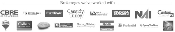 Brokerages we have worked with
